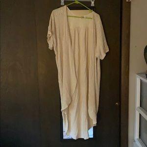 High-Low summer cardigan